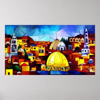 Jerusalem Heart Poster