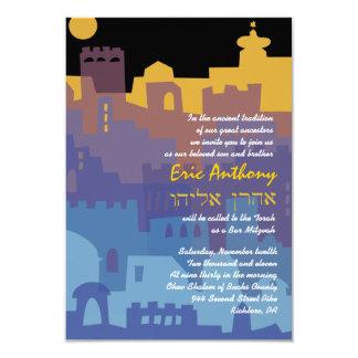 Jerusalem Holy City Bar Bat Mitzvah Invitation