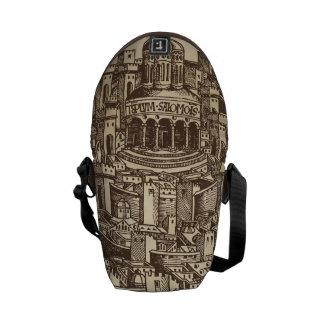 Jerusalem, Medieval Woodcut, Detail Courier Bag