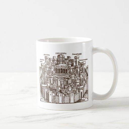 Jerusalem, Medieval Woodcut Mug