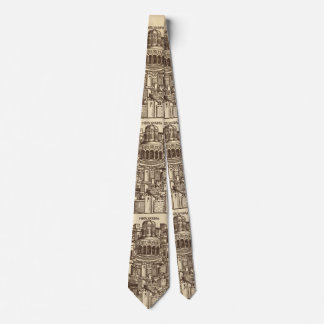 Jerusalem, Medieval Woodcut Tie