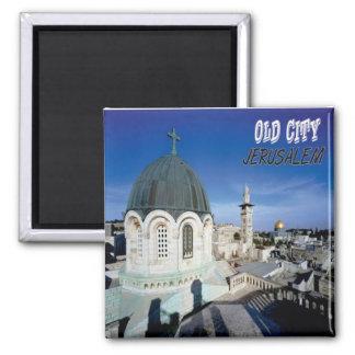 Jerusalem Old City Fridge Magnet Souvenir