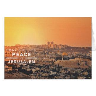Jerusalem Peace Prayer Card
