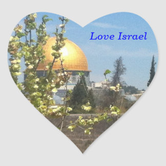 Jerusalem - The Temple Mount Heart Sticker