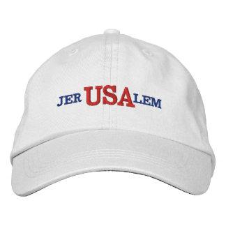 Jerusalem USA Embroidered Hat