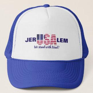 Jerusalem USA Trucker Hat