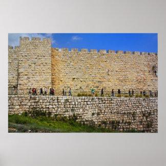 Jerusalem Walls Poster