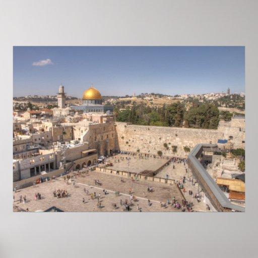 Jerusalem Western Wall Poster