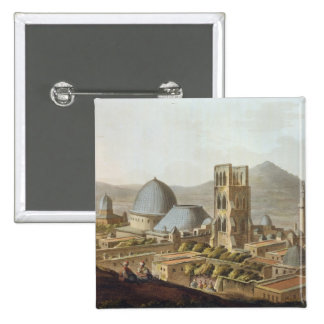 Jerusalem with the Church of the Holy Sepulchre, p 2 Inch Square Button