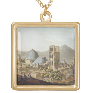 Jerusalem with the Church of the Holy Sepulchre, p Gold Plated Necklace