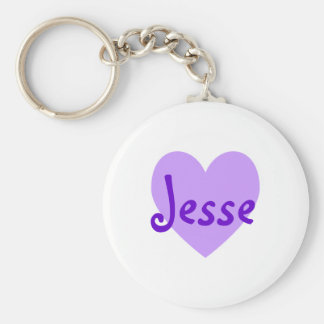 Jesse in Purple Keychain