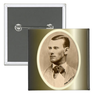 Jesse James Outlaw Bank Robber 2 Inch Square Button