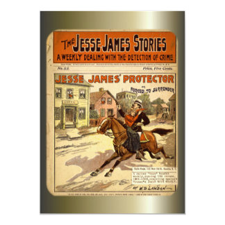 """Jesse James Outlaw Bank Robber Comic Book 5"""" X 7"""" Invitation Card"""
