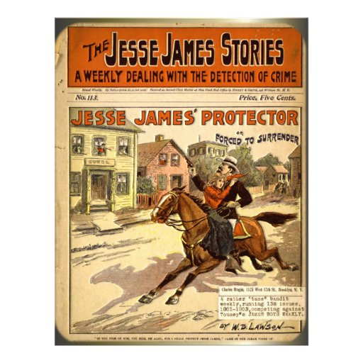Jesse James Outlaw Bank Robber Comic Book Personalized Flyer