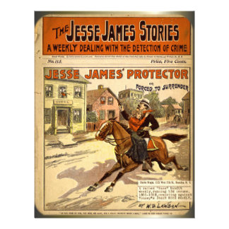 Jesse James Outlaw Bank Robber Comic Book Full Color Flyer