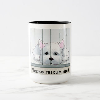Jesse the Rescue Westie coffee mug 15 0z