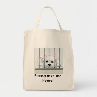 Jesse the Rescue Westie Tote Bag