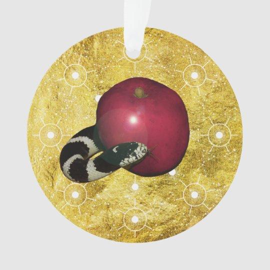 Jesse Tree Serpent Apple Ornament
