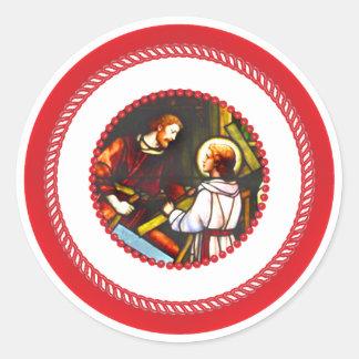 Jesse Tree St. Joseph and Christ Classic Round Sticker
