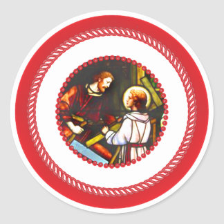 Jesse Tree St. Joseph and Christ Round Sticker