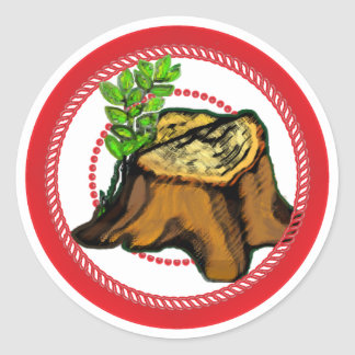 Jesse Tree Stump Sticker