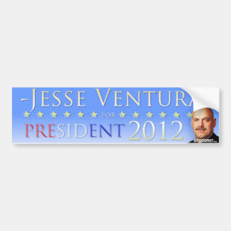Jesse Ventura 2012 (or sooner) Bumper Sticker