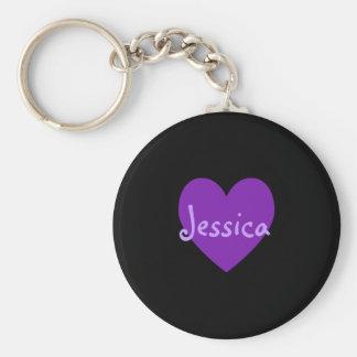 Jessica in Purple Keychain
