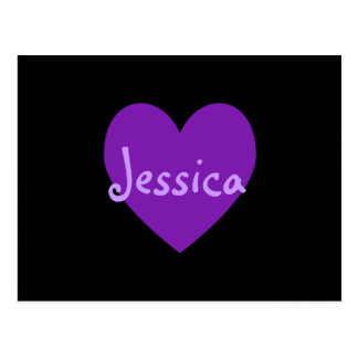 Jessica in Purple Postcard