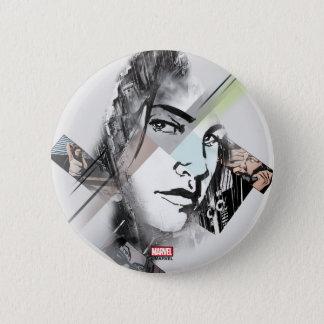 Jessica Jones Face Graphic 2 Inch Round Button