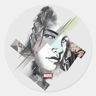 Jessica Jones Face Graphic Classic Round Sticker