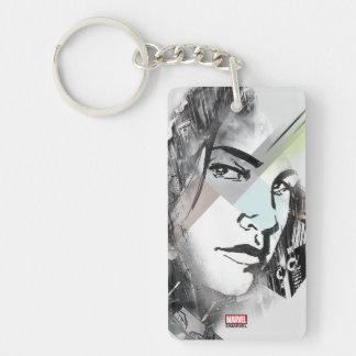 Jessica Jones Face Graphic Keychain