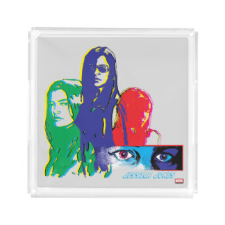 Jessica Jones Multi-Color Character Graphic Acrylic Tray