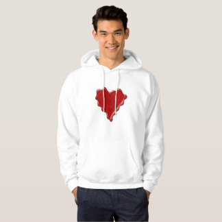 Jessica. Red heart wax seal with name Jessica Hoodie