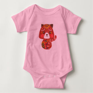 Jessica, The Cute Red Panda Baby Bodysuit