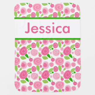 Jessica's Personalized Rose Blanket