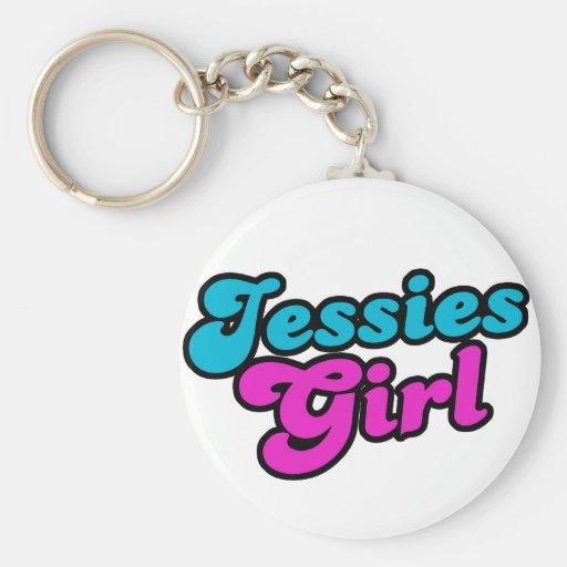 Jessies Girl Basic Round Button Keychain