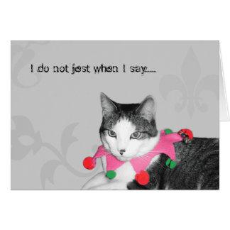 Jester Cat Card