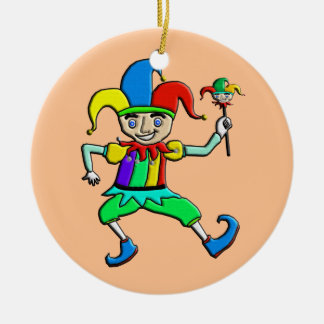 Jester Ceramic Ornament