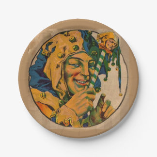 jester from the 1920s paper plate