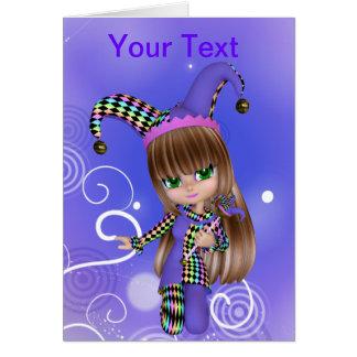 Jester Girl Greeting Card