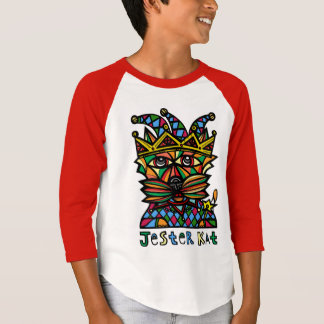 """Jester Kat"" Boys' Long Sleeve Raglan T-Shirt"
