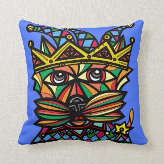 """""""Jester Kat"""" BuddaKats Throw Pillow"""