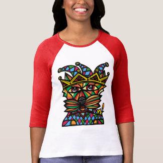 """Jester Kat"" Women's 3/4 Sleeve Raglan T-Shirt"