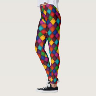 Jester Pants! Multicolor Patchwork Pattern Leggings