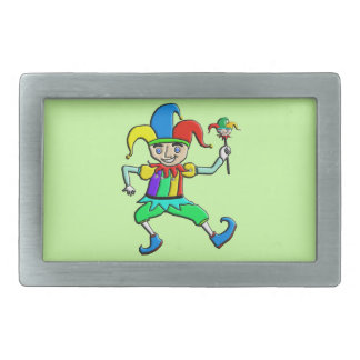 Jester Rectangular Belt Buckle