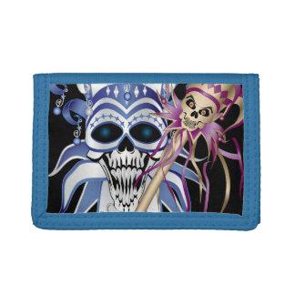 Jester Skull Tri-fold Wallet