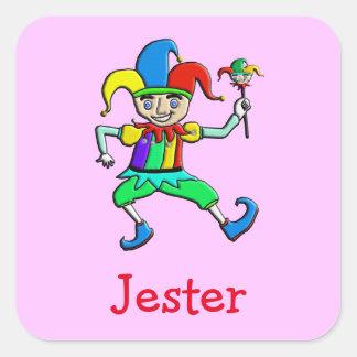 Jester Square Sticker