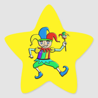 Jester Star Sticker