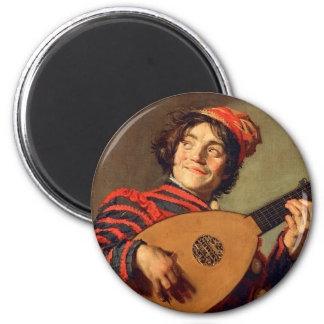 Jester with a Lute Magnet