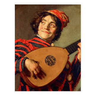 Jester with a Lute Postcard